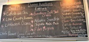 Chef's Specials Chalkboard